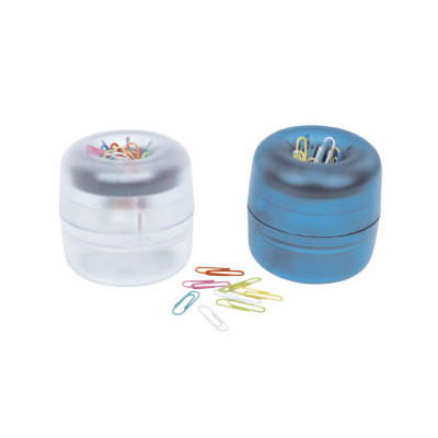 Round Plastic Holder With Paper Clips