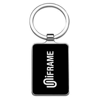 Quadrilateral Dark Gunmetal Key Chain
