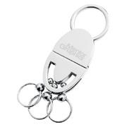 Oval Shape Multi-Rings Pull & Twist Key Holder