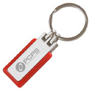 Rubber Metal Keychain