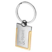 Gold Rim Metal Keychain