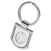 Rounded Bottom Metal Keychain