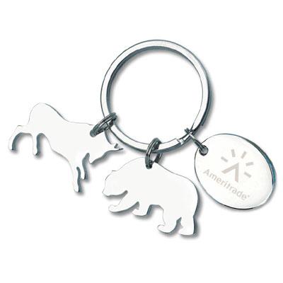 Charmed Bull and Bear Keyholder