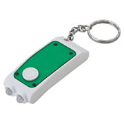 Double LED Flashlight Keyring With Pen