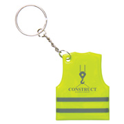 Reflective Safety Vest Keytag
