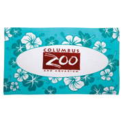 12 lb./doz. Hibiscus Pattern Beach Towel
