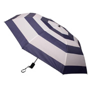 Nautical Stripe Auto Open Folding Umbrella