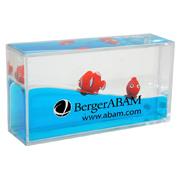 Mini Clownfish Liquid Paperweight