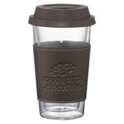 Double Wall Glass Tumbler With Wrap - 10 oz.