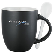 Canyon 12 oz. Ceramic Mug with Spoon