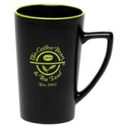 14 oz. Colored Rim Black Sausalito Mug