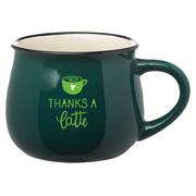 12 oz. Two Tone Glossy Pottery Coffee Mug