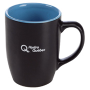 Two-Tone Matte Black Mug