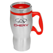 16 oz. Curvy Handle Stainless Steel Travel Mug