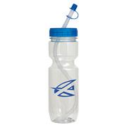 22 oz. Translucent Bike Bottle With Straw Tip Lid