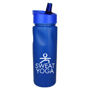 24 oz. Cycle Bottle With Straw Cap Lid