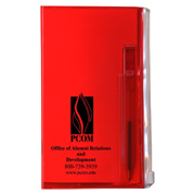 Translucent Vinyl Weekly Planners With Matching Pen and Zip-Lock Back Pocket
