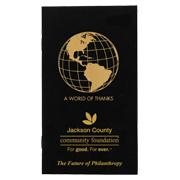 Logo Series Monthly Black Cardstock Planner (Globe)