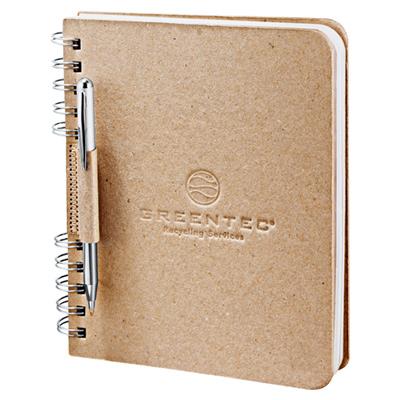 "6"" x 7.5"" Recycled Cardboard Spiral JournalBook"
