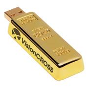 8GB Golden Nugget USB 2.0 Flash Drive