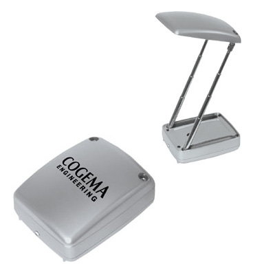 Silver Collapsible Reading Light With Flashlight