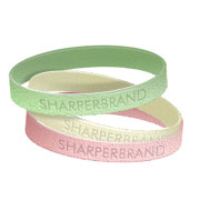 Silicone Rubber Wristband (Glitter - Youth)