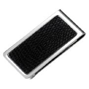 PVC Snake Skin Pattern Silver Stainless Money Clip