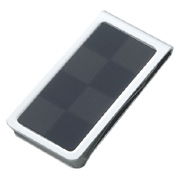 Checkered Pattern Silver Stainless Steel Money Clip