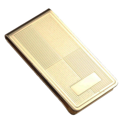 Gold Chrome Plated Metal Money Clip