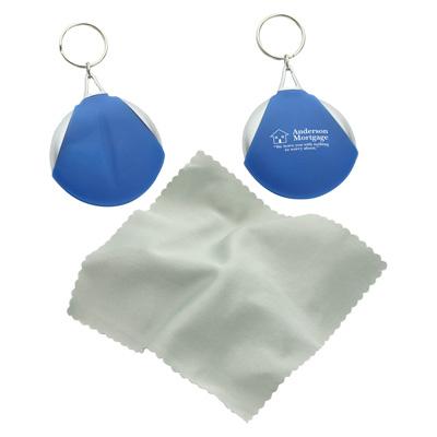 Pocket Microfiber Lens Cloth Wtih Key Chain