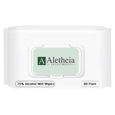 80 Count Alcohol Antibacterial Wet Wipe Packet