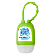 1 oz. Hand Sanitizer Gel in Silicone Case With Strap