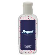 1 oz. Single Color Moisture Bead Sanitizer in Clear Oval Bottle