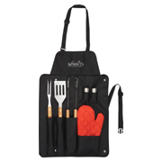 BBQ Now Apron and 7 Piece BBQ Set