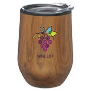 12 oz. Palmera Stemless Wine Glass With Lid
