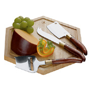 Laguiole Cheese Board With Knives