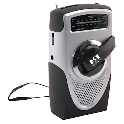 Dynamo-Powered Radio With Weather Band
