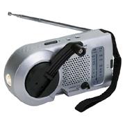 Kaito Small Hand Crank Dynamo Radio With Flashlight