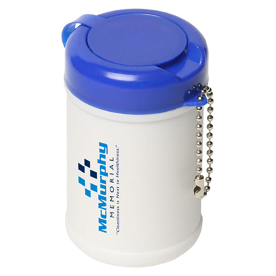 Travel Well Sanitizer Wipes With Key Chain