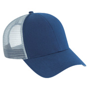 Cotton Twill Six Panel Low Profile Mesh Back Trucker Cap